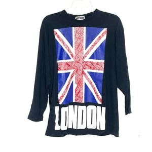 Michiko Koshino London Union Jack Tee Shirt Medium